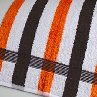 "Gözze Handtücher ""New York"" gestreift 50x100cm in mocca-weiss-orange"