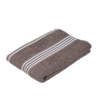"""Gözze Duschtuch """"Rio 2"""" farbiges Tuch rauch mit weißen Streifen"""